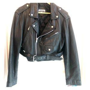 Contempo Faux Leather Crop Jacket